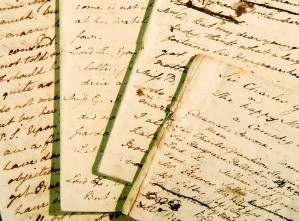 Jane Austen' manuscript of Sir Charles Grandison, held at Chawton House Library