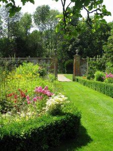 The walled kitchen garden built by Edward Knight.