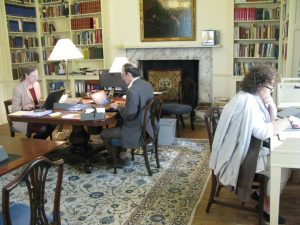 Visiting Fellows Linda Troost and Sayre Greenfield hard at work in the reading room.