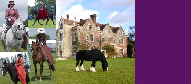 Chawton House Library fun ride and side saddle gala